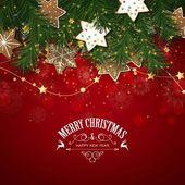 Vettore cartolina dauguri di Natale con i biscotti di Natale