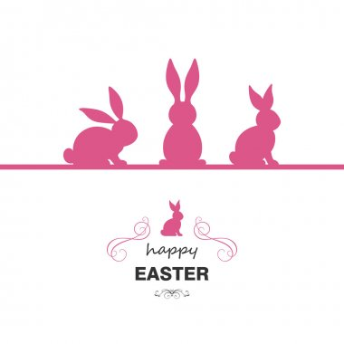 Vector Illustration of a Colorful Happy Easter Greeting Card Design
