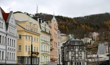 Karlovy Vary (Carlsbad) -- famous spa city in western Bohemia, very popular tourist destination in Czech Republic