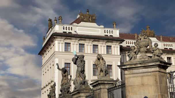 Pohled na budovu prezidenta republiky v Praze, Česká republika