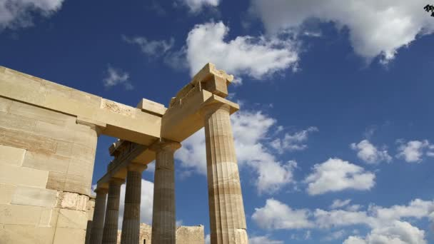 Lindos Acropolis on Rhodos Ancient Archeological site, Greece