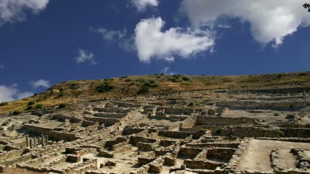 Antické ruiny Kameiros, Rhodos - Řecko (časová prodleva)