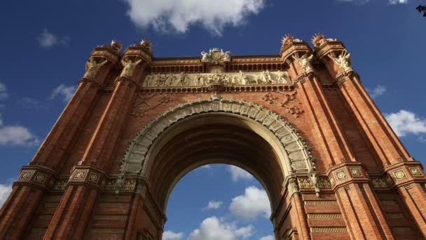 Arc de Triomf, Barcelona, Spain  (time lapse)