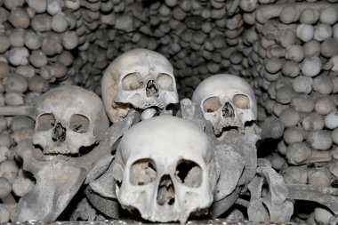 Sedlec Ossuary is a small Roman Catholic chapel, located beneath the Cemetery Church of All Saints in Sedlec, a suburb of Kutna Hora in the Czech Republic