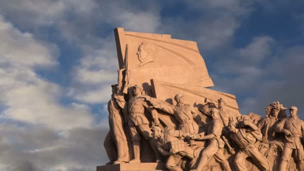 revoluční sochy na náměstí Nebeského klidu v Pekingu, Čína
