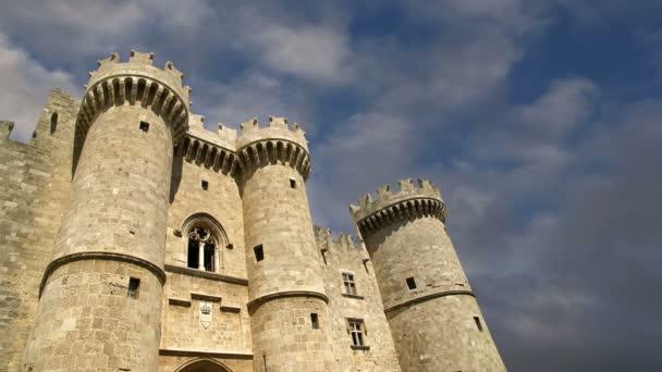 ostrov Rhodos, Řecko, symbolem rhodes, paláce velmistra slavných rytířů (také známý jako castello) v středověké město Rhodos, se musí návštěva muzea Rhodos