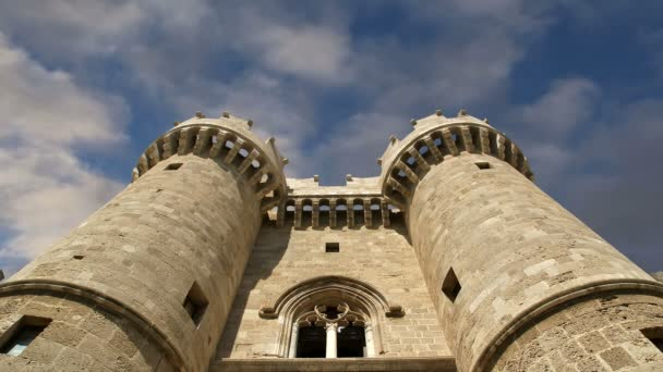 Rhodes Island, Greece, a symbol of Rhodes, of the famous Knights Grand Master Palace (also known as Castello) in the Medieval town of rhodes, a must-visit museum of Rhodes