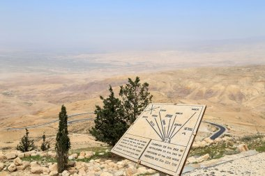 Desert mountain landscape (aerial view), Jordan, Middle East