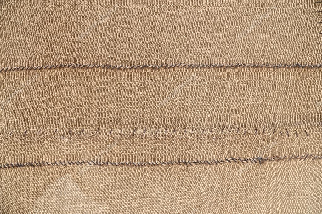 Fondo de textura (textura de saco) de arpillera con marco completo ...