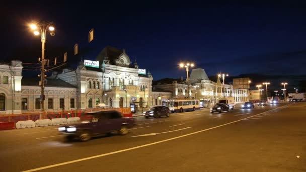 Rizhsky železniční stanici (stanice Rižskij vokzal, Riga stanice) a noční provoz v Moskvě, Rusko