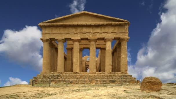 Starověký řecký chrám Concordia (V-VI. století př. n. l.), Údolí chrámů, Agrigento, Sicílie