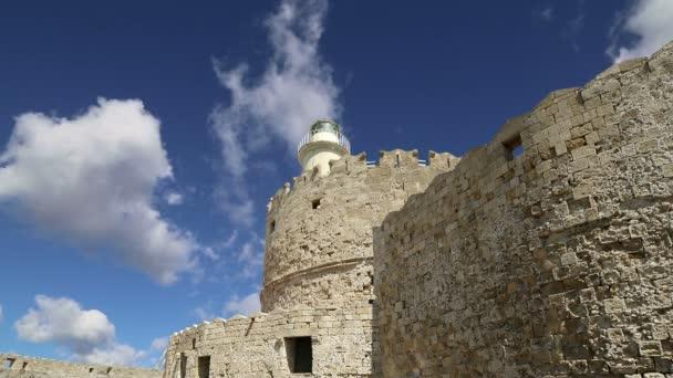 Rhodos věž svatého Mikuláše, Řecko (časová prodleva)