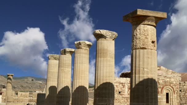 Lindos Acropolis on Rhodos Ancient Archeological site,Greece