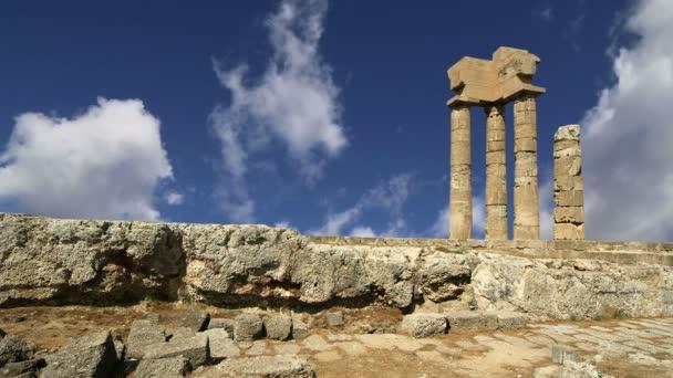 Apollo Temple at the Acropolis of Rhodes,Greece
