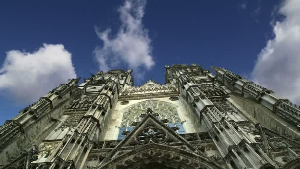 Gothic cathedral of Saint Gatien (built between 1170 and 1547),Tours, France