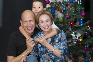 Happy Family enjoying at home at Christmas