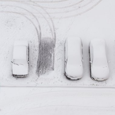 Cars under the snow