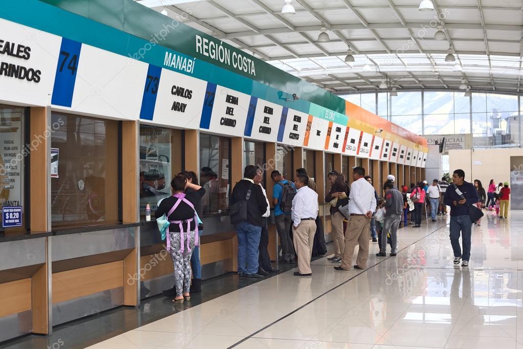 Quitumbe Bus Terminal in Quito, Ecuador – Stock Editorial