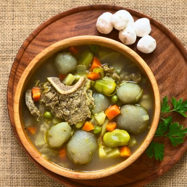 Traditional Bolivian Soup Called Chairo de Tunta