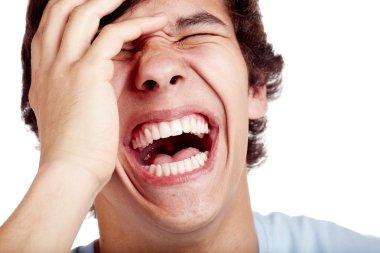 Young laughter closeup