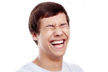 Laughting man closeup