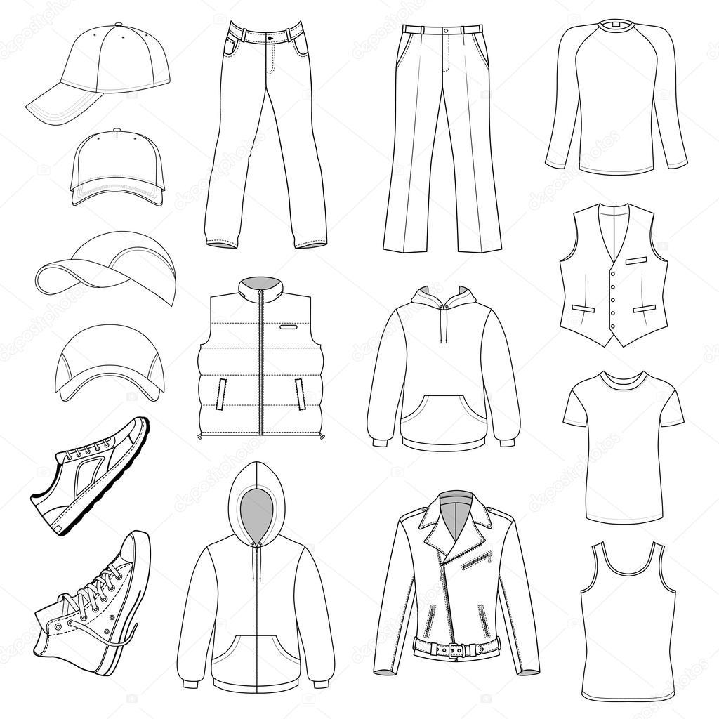 a48db2fdf Colección de temporada ropa de caballero, sombrero y zapatos se ...