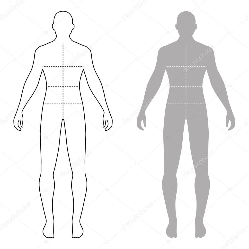 Male fashion figure template