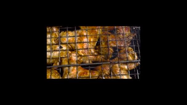 csirke szárny, grillezés a szabadban