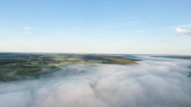 repülő felett landcape, Mist