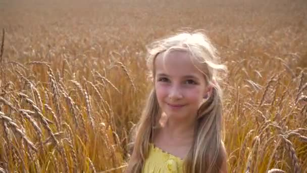 dívka v pšeničné pole