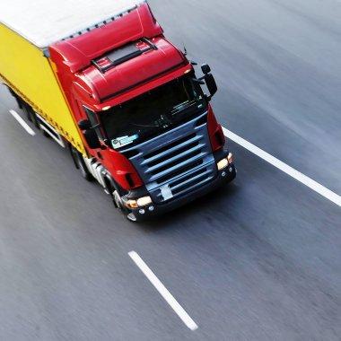 Truckmoving fast