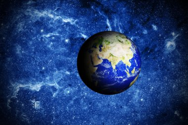 planet earth deep in space