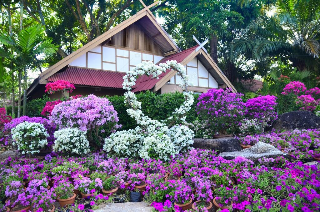 Nong Nooch Tropical Botanical Garden In Pattaya Thailand Stock Photo Tatisol 100867470