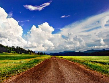 Country road, Altai, Russia