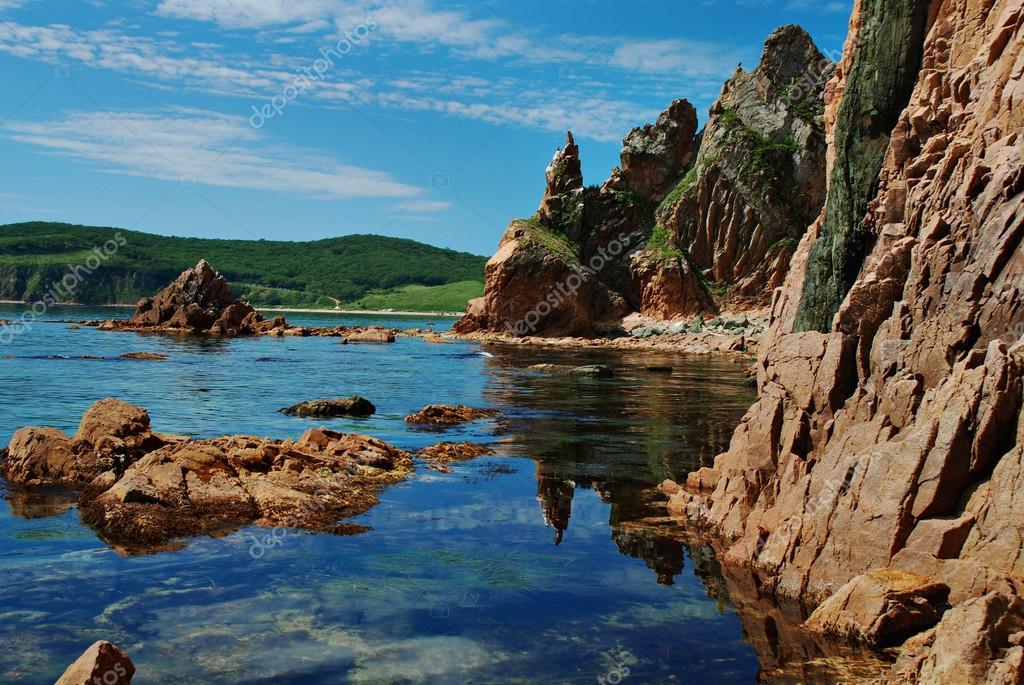 Rocky coast, sea of Japan