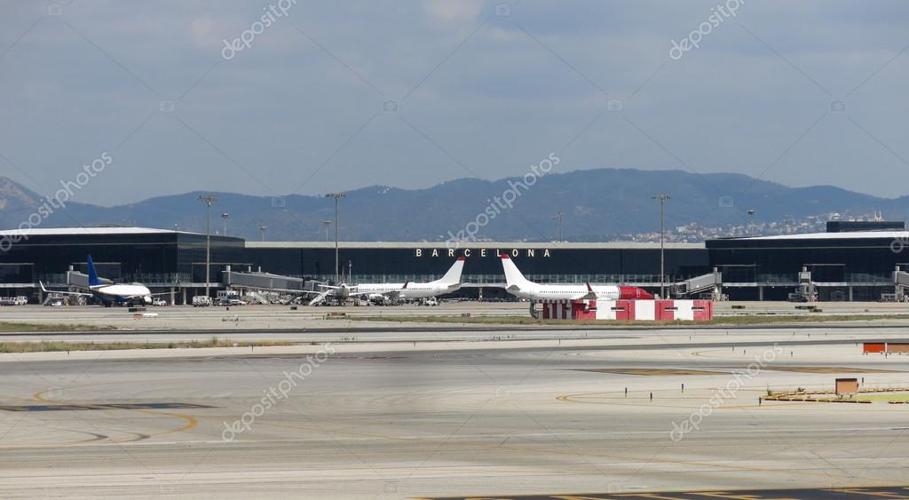 50f23ff77d3 Barcelona International Airport panorama. Airport if one of the biggest in  Europe and the second largest in Spain. — Photo by Toniflap