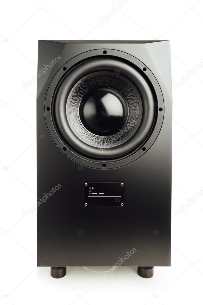 Professionell studio subwoofer högtalare isolerad på vit — Stockfoto 28614c03a4312