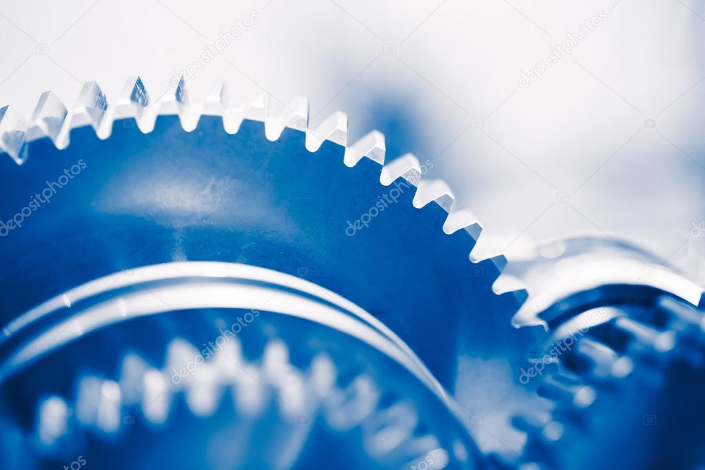 industry background with blue gear wheels — Stock Photo © nikkytok