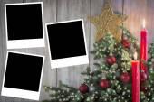 Fotografie Weihnachts-Grußkarte mit Kerzen
