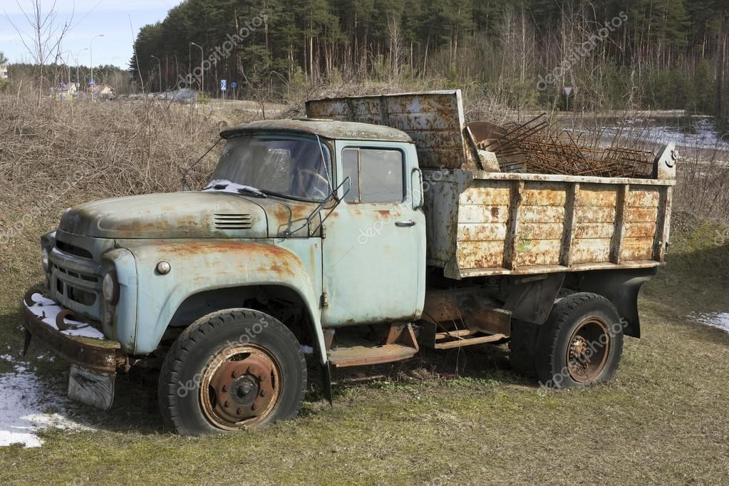Rusty forgotten truck