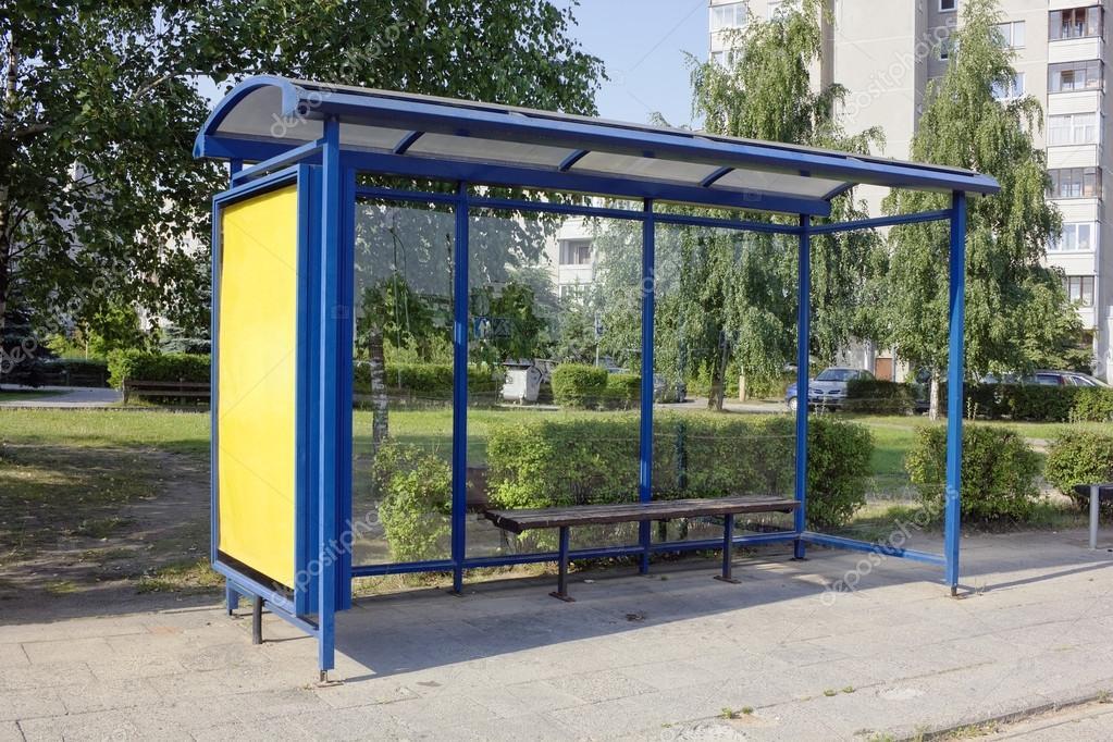 forgotten empty bus-stop