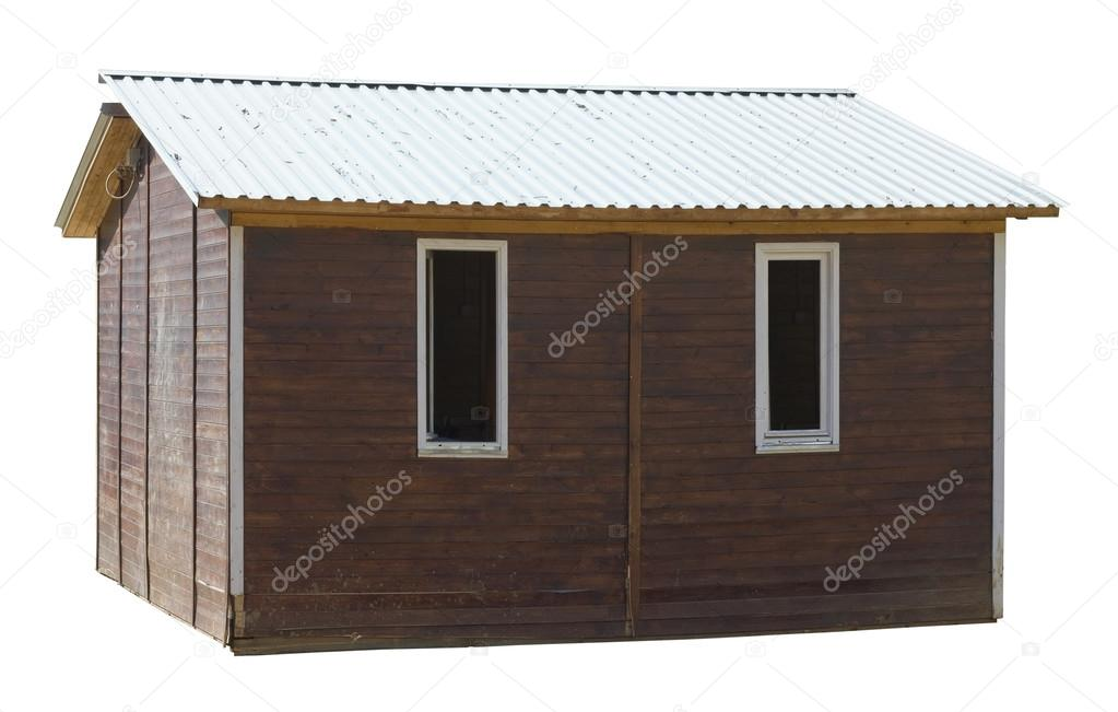 Modern Rustic Style Wooden Village Shed Stock Photo