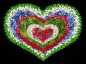 Smuteční Květinové srdce