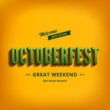 Octoberfest festival typography vintage retro style vector desig