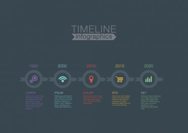 Timeline Infographics circles vector design template for financial reports, website, blog, infographic statistics. Editable. clip art vector