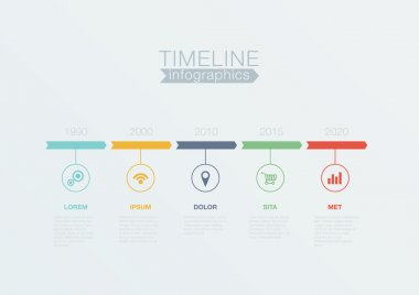Timeline Infographics vector design template for business financ
