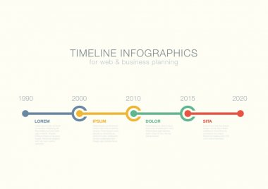 Timeline Infographics circles vector design template for financi
