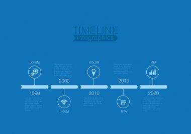 Timeline Infographics one color vector design template for finan