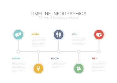 Timeline Infographics vector design template for financial repor