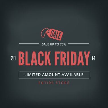 Black Friday Sale Poster design Typography vector template Retro